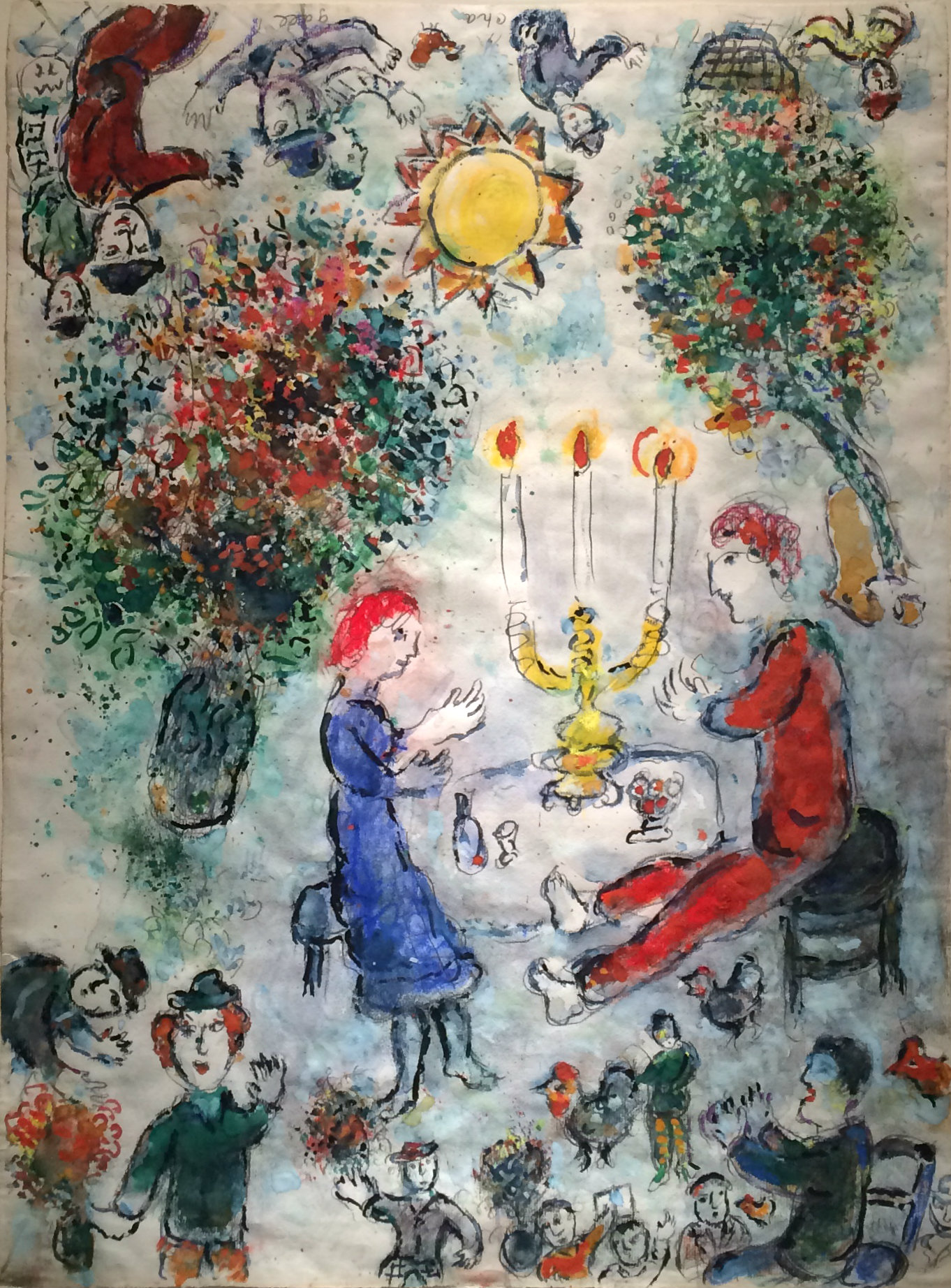 marc chagall french Chagall combined a variety of sources, including aspects of jewish, russian, and french culture and images from christian art, in his own whimsical art, based on his reinvented biography literature marc chagall, moscow, 1920 tempura and gouache on canvas panel from the mural on the four arts created by chagall.